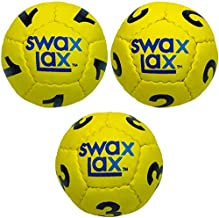 SWAX LAX Numbered Lacrosse Training Balls for Goalies Set of 3 Practice Balls, Lax Goalies Develop Laser Focus by Calling Out Numbers of Incoming Balls