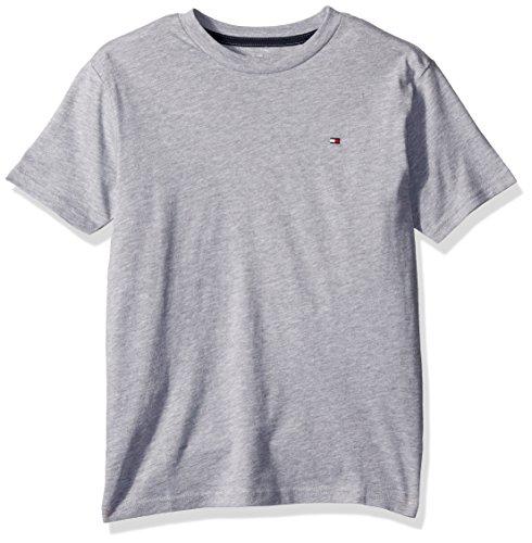 Tommy Hilfiger Jungen T-Shirt Solid Rundhals Short Sleeve - grau - Mittel