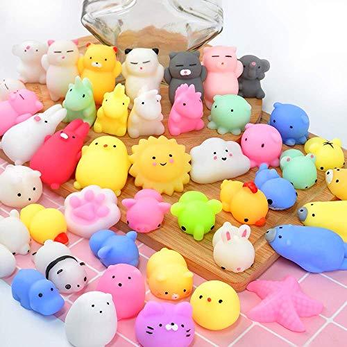 OCATO Squishies Mochi Squishy Toys 40pcs Party Favors for Kids Mini Squishy Kawaii Mochi Animal...