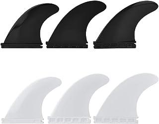 Zerone Fibreglass Surfboard Fins, Fin Thruster Set Nylon Plastic Surfboard Fins FCS or Future Fins Surfboard G5