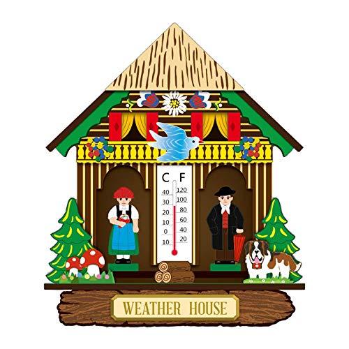 MagiDeal Termómetro Interior con termómetro Vertical de Pared de Humedad/higrómetro, Monitor de Temperatura para el hogar, termómetro doméstico para