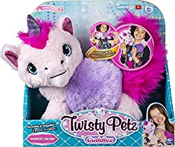 TRANSFORMING WEARABLE PLUSH: Untwist and wear. Turn your plush animal into a super soft, fashionable boa with a simple pull of the head and tail. With two twists, easily turn your boa back into cuddly pet 4 ANIMALS TO COLLECT: There are 4 adorable Tw...