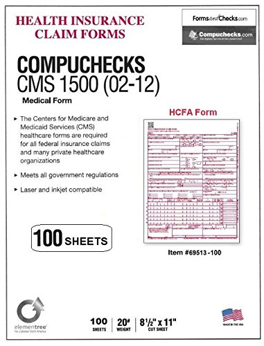 New CMS 1500 Claim Forms - HCFA (Version 02/12) (100 Sheets) Photo #3