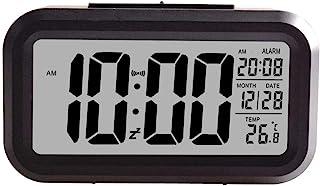 Creative Smart Nightlight Digital Alarm Clock,ShowTop Bedside Desk Table Electronic Clock Battery Operated Mute Luminous A...