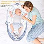 Mamibaby-Baby-Lounger-Baby-Nest100-Breathable-Soft-Portable-Adjustable-for-Crib-Bassinet-Mattress-for-Newborn-Essential-Shower-Gift-Co-SleepingTravelling-Stars-Pattern