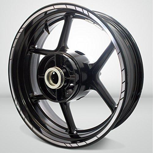 Stickman Vinyls Borde exterior reflectante plateado Speed compatible con Kawasaki Ninja 650