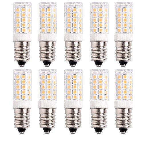 10er Pack E14 SES LED Birnen, 5W 430LM, ersetzt 50W Halogenlampe, Warmweiß 3000K, 360° Strahlwinkel, Kühlschranklampe/Wandlampe/Tischleuchte/Kronleuchter