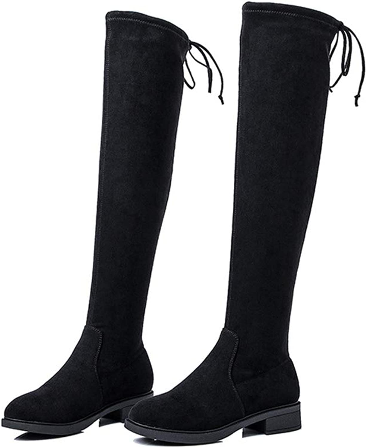 FORTUN Fashion Long Boots Women's Flat Boots Over The Knee Boots