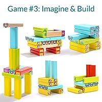 Nene Toys - Torre Magica Colorata in Legno con Animali – Gioco Educativo da Tavolo per Bambini - Gioco Didattico 4 in 1 per Bambini da 3 a 9 anni – Giocattolo Ideale come Regalo per Genitori e Figli #4