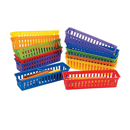 Classroom Pencil & Marker Baskets (12 Pack) Plastic. 10' x 3' x 2 1/4'.