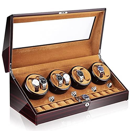 Caja Bobinado Automático Reloj Pulsera, Cajas Bobinadora Reloj, Bobinadora Reloj Motor Silencioso Mesa 8 + 0 Automática para El Hogar, Caja Presentación Almacenamiento Reloj Mecánico (Color : E)