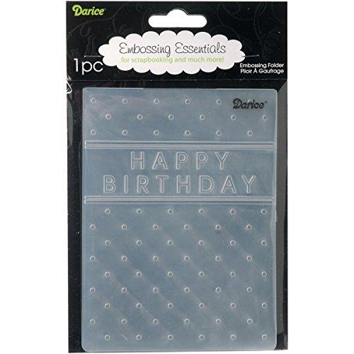 "Happy Birthday Embossing Folder 4.25""X5.75"" EB12-15-45"