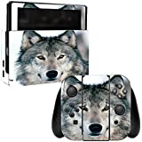 MightySkins Skin Compatible with Nintendo Switch - Wolf | Protective, Durable, and Unique Vinyl Decal wrap Cover | Easy to Apply, Remove, and Change Styles | Made in The USA