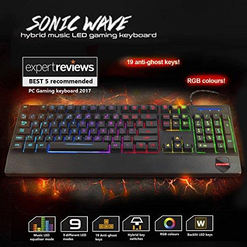 Sumvision Nemesis Gaming Serie Sonic Wave Hybrid Musik LED Tastatur