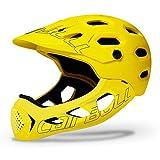 DishyKooker Cairbull ALLCROSS Casco Integrale per Mountain Bike da Bicicletta Casco Integrale per Sport estremi Giallo M/L (56-62 cm)