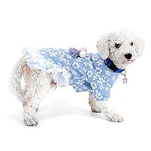 Selmai Winter Coton Robe pour chiens de petite taille Floral volants en dentelle Princesse Fille femelle Chiot Manteau pour animal domestique Chien Chihuahua Vêtements tenues Vêtements par temps froid manteaux