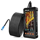 50FT Industrial Endoscope, Oiiwak Borescope Camera for Pipe Sewer Drain Plumbing Inspection 1080P HD 4.3inch LCD Screen Waterproof IP68 Endoscope Snake Camera with 6 LED Lights(15m)