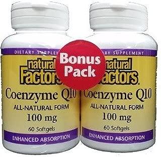 Natural Factors Coenzyme Q10 100mg Bonus Pack 60+60 Softgel
