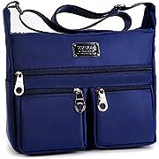 Nylon Crossbody Bag,Womens Designer Casual Shoulder Travel Crossbody Bag by ZYSUN