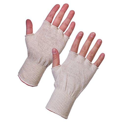 SuperTouch 252W4(groß) 252W4stockinet Fingerlose Handschuhe, 1Paar, Größe 9/L, Weiß