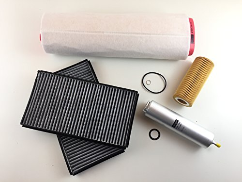 Ölfilter Luftfilter 2 x Aktivkohlefilter Kraftstofffilter
