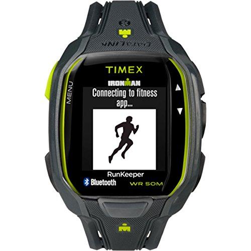 Timex Herren Ironman Run X50 Plus HRM Sportuhren, grau, Standard