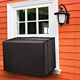 Fujieco Outdoor Air Conditioner Cover for Window Units, Dust-Proof&Waterproof Window AC Cover for Outside,Heavy Duty Defender, Bottom Covered with Straps, XS Black 17 x 13 x 12 inches (L x H x D)