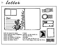 DIYスクラップブッキングフォトアルバム用の文字汚れ透明クリアシリコンスタンプシール装飾クリアスタンプM1078