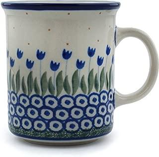 Polish Pottery Coffee Tea Mug 10 oz (Water Tulip)