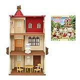 【メーカー特典あり】シルバニアファミリー 赤い屋根のエレベーターのあるお家+シルバニアファミリーミニシールブック付き