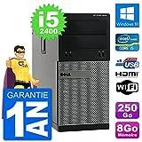 Dell PC 3010 MT i5-2400 RAM 8Go Disque Dur 250Go HDMI Windows 10 WiFi...