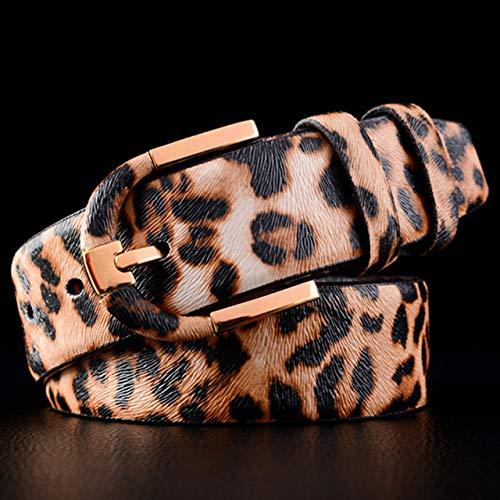 LOCOTECH cinturones de mujer, Estampado de leopardo, 110 cm