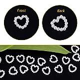 1000 Stück 11 * 11 mm Perlenherzen Tischdeko Streudeko Hochzeit Pelren Herzen Beiden Seiten Glänzen für Kunst Handwerk DIY Scrapbooking - 3
