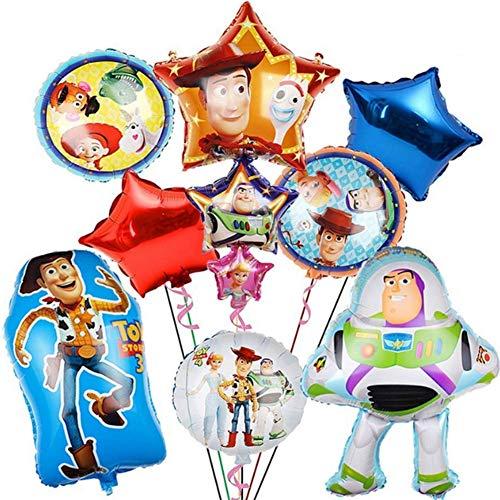 WENTS Luftballons Geburtstag, Luftballons Folienballons Toy Story Ballons Helium Luftballons Buchstabenballons für Geburtstag Dekoration, 9 Stück