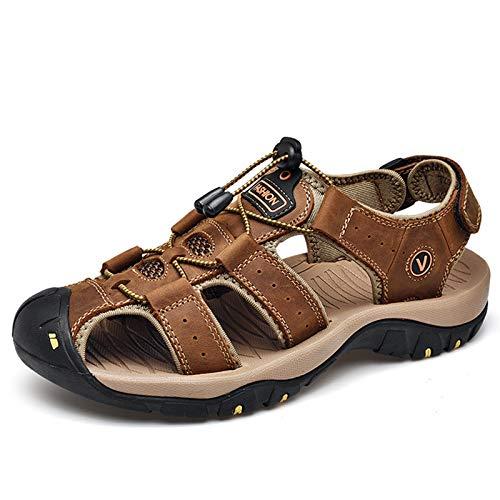 [ziitop] スポーツサンダル メンズ アウトドアサンダル 登山サンダル 牛革 水陸両用 通気 防滑 耐久性 速乾 サンダル メンズ つま先保護 大きいサイズ 歩きやす