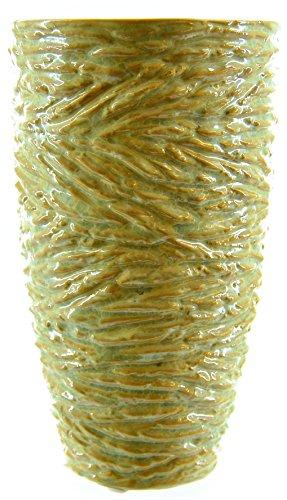 Verde in ceramica crackle rotondo vaso 20cm