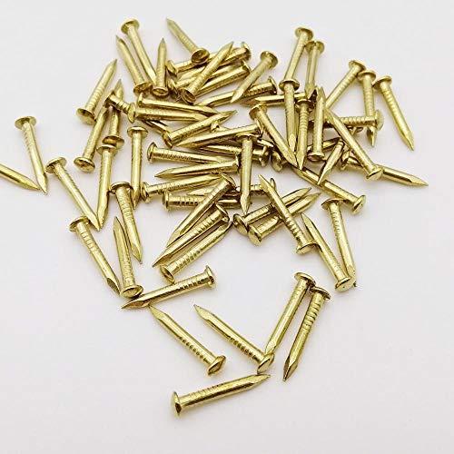 Haus Dekoration 200x Golden Dia = 1,2mm 1,5 mm 1,8mm Länge = 6-30mm Eisen Kleine Mini Runde Kopf Nagelheck for Schmuck Brustkasten Fall Scharniermöbel (Size : 1.8x10mm)