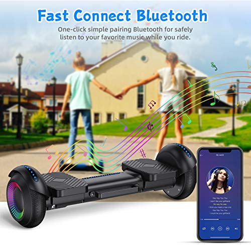 Hiboy W Hoverboard UL-2272 Certified Self Balance Scooter for Kids with LED Light, Hoverboard for Kids Ages 6-12