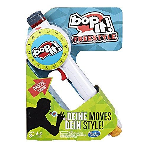 Hasbro Bop It! Maker - Juguetes de habilidades motoras (Verde, Gris, Rojo, Blanco, Amarillo, De plástico, 8 año(s), 1,5 V, AAA, Caja abierta)