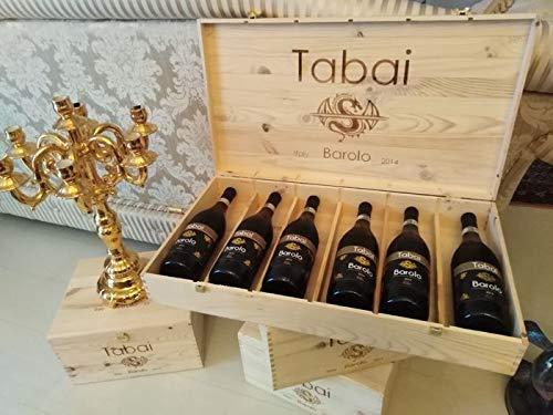Barolo 2014 DOCG e Rosso Barbaresco 2014 DOCG in Cassa Legno 2 bottiglie di vino