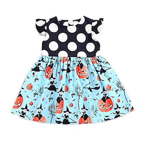 AMUSTER Kleinkind Kinder Baby Mädchen Halloween Kürbis Cartoon Prinzessin Kleid Outfits Kleidung Prinzessin Kleid Grimms Märchen Kostüm Cosplay Mädchen Halloween Kostüm