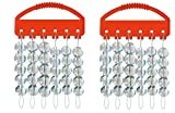 2 Packungen Glas - Perlen - Set rund klar 2 Größen, 8 mm & 10 mm, gesammt 60 Perlen Glasperlen Sortiert + gratis Petri Heil! Aufkleber