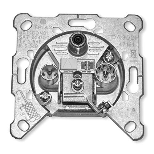 Hirschmann Triax Sat Einzeldose 3-Loch EDA 302 F, 2,2 dB
