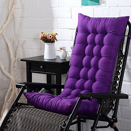 XFXDBT Thicken One-piece Chair Pad Not-slip Lounger Chaise Cushion High Back Rocking Chair Cushions For Patio Furniture Rattan Chair Cushion-Deep snow blue 125x48cm(49x19inch)