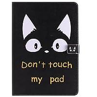 iPad Pro 10.5 ケース iPad Pro 10.5 カバー アイパッド プロ 10.5 カバー 可愛い 猫柄 レザーケース 多段階調整可 カード収納 スタンド機能 ポケット付き マグネット式 タブレットカバー ケース 耐衝撃 薄型 全面保護 手帳型 スマートケース【Astarz】