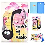 YKTO Tablet Coque Samsung Galaxy Tab A 10.1 2016 T580 T585 Housse Léger Ultra-Mince Flip Cover...