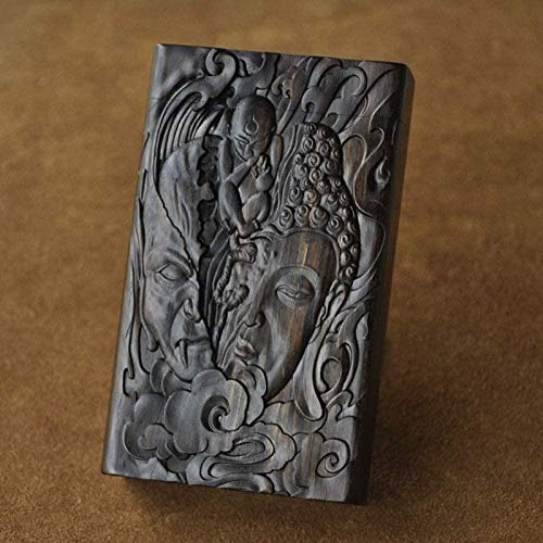 Caja de Cigarrillos Caja de Cigarrillos Set de Fumar Ebony Flip Grabado Patrón Adecuado para Humo áspero Hombres Damas Regalos Capacidad 20-mi_Caja Improve
