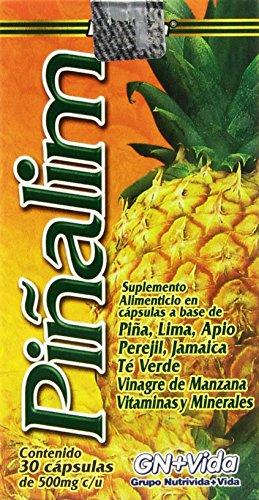 Pinalim Capsules - Pineapple, Green Tea, Apple Vinegar - Weight Loss Supplement - 30 Day Supply