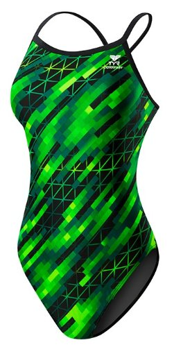TYR SPORT Women's Echo Dash Diamondfit Swimsuit (Green, Size 26)