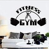 Fitness Wandtattoo Fitnessstudio Innendekoration Motivation Workout Sport Bodybuilding Vinyl...